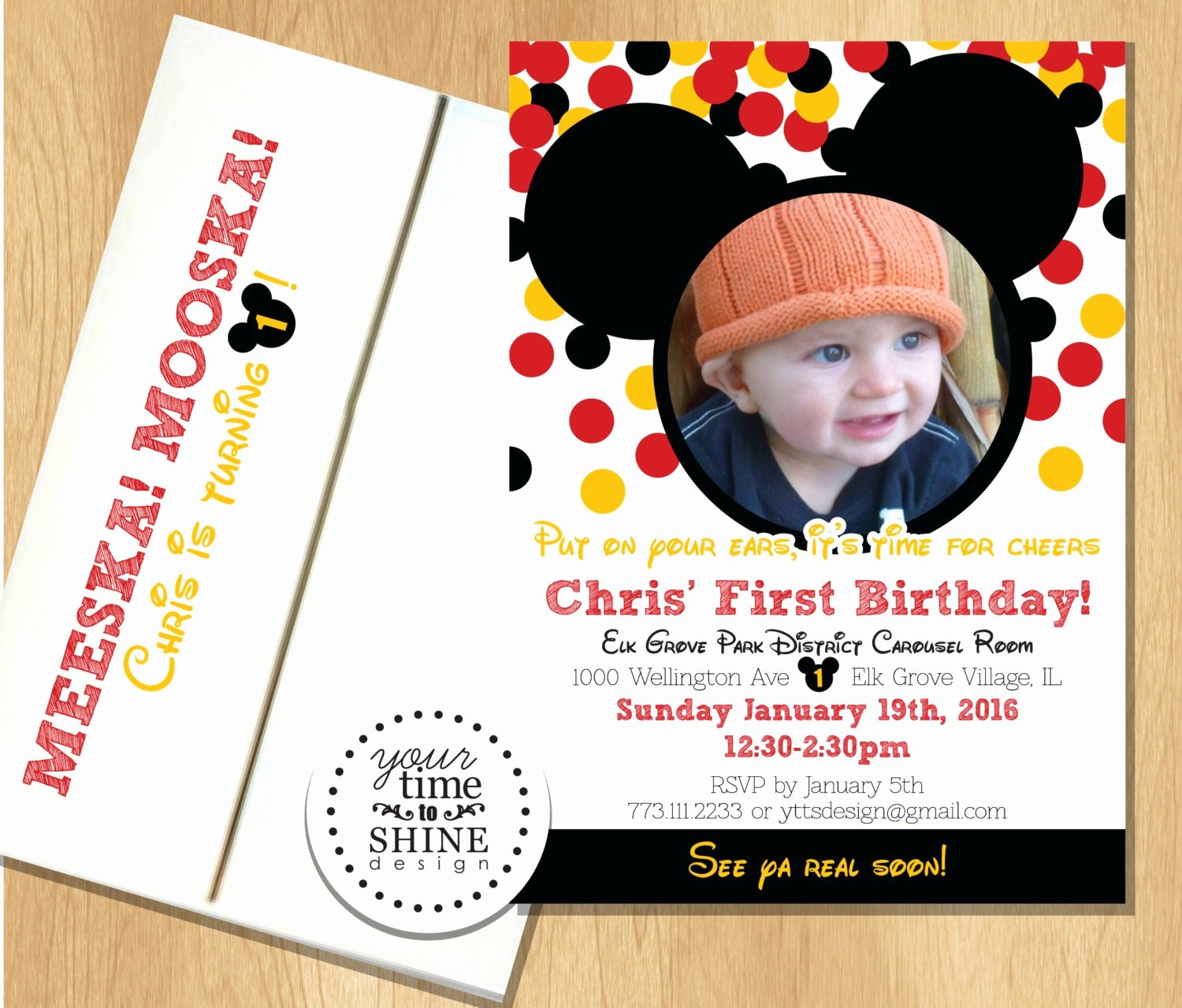 Mickey Mouse Picture Invitations Beautiful Mickey Mouse Birthday Invitations with Picture