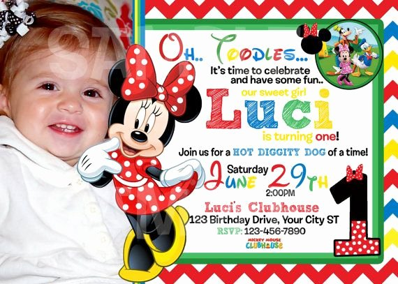 Mickey Mouse Picture Invitations Fresh 30 Best Images About Mickey Mouse Clubhouse Birthday On