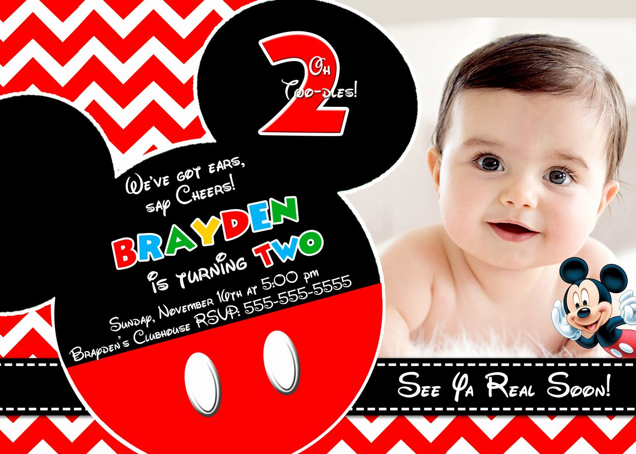 Mickey Mouse Picture Invitations Fresh Mickey Mouse Clubhouse Invitations for Special Birthday Party