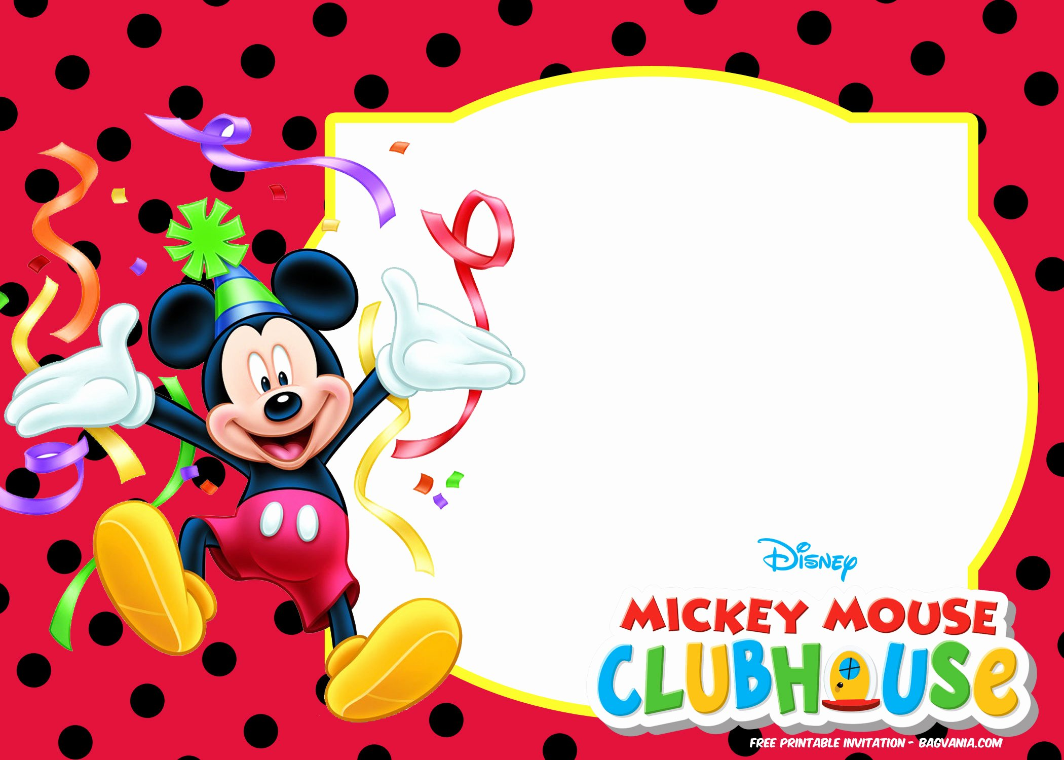 Mickey Mouse Picture Invitations Lovely Free Mickey Mouse Summer Birthday Invitations