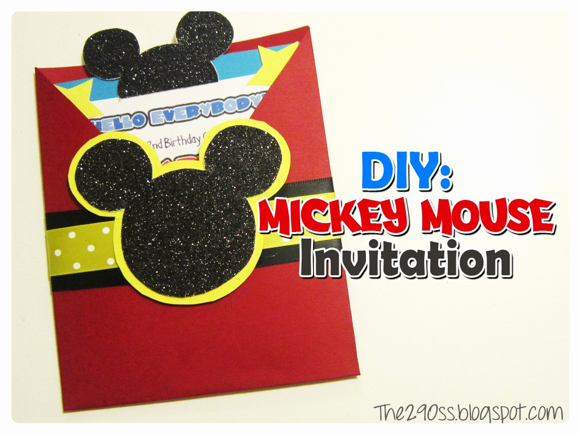 diy mickey mouse invitation