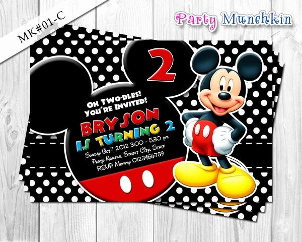 Mickey Mouse Picture Invitations Luxury Mickey Mouse Invitations Mickey Mouse Invite for Mickey