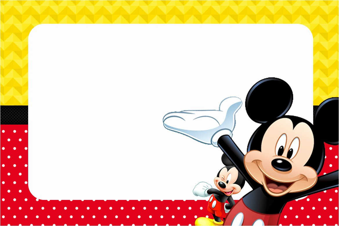 Mickey Mouse Picture Invitations Unique 25 Incredible Mickey Mouse Birthday Invitations