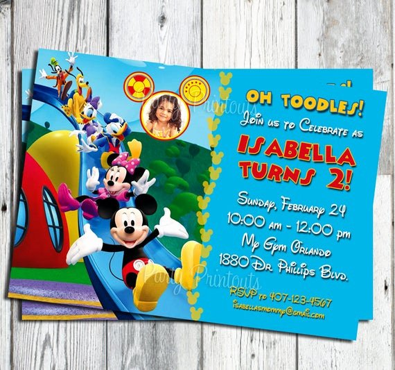 Mickey Mouse Pool Party Invitations Fresh Items Similar to Mickey Mouse Birthday Invitation
