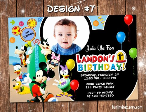 Mickey Mouse Pool Party Invitations Inspirational Mickey Mouse Clubhouse Pool Birthday Party