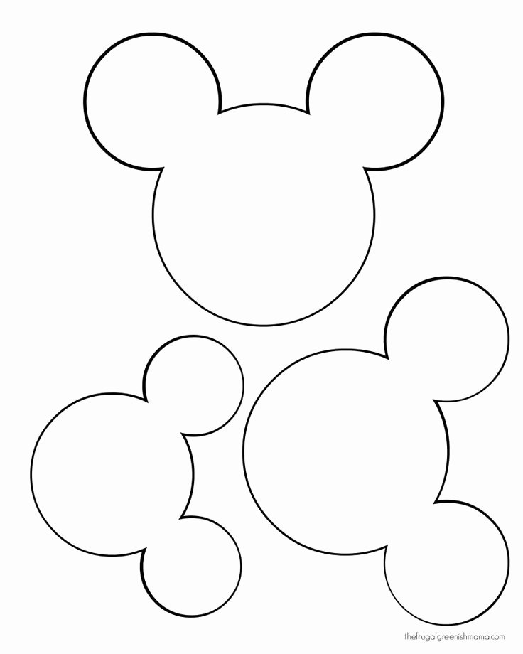 Mickey Mouse Templates Free Awesome Printable Mickey Mouse Ears Template Google Search