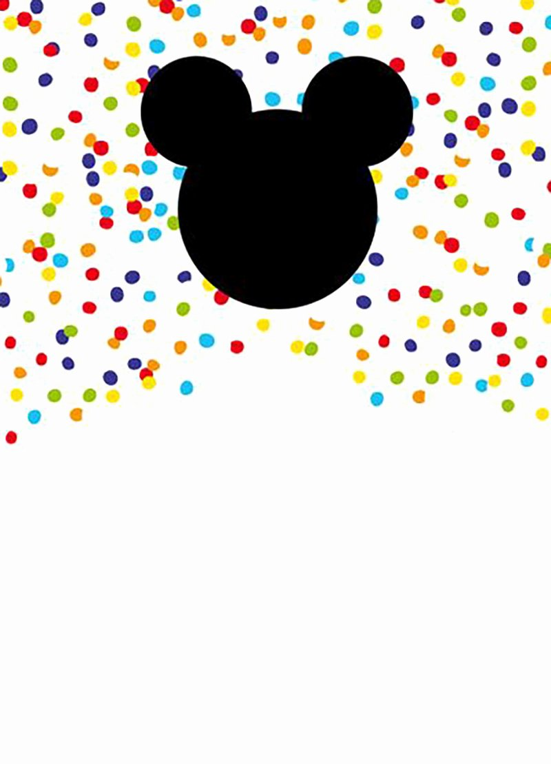 Mickey Mouse Templates Free Beautiful Mickey Mouse Free Printable Invitation Templates