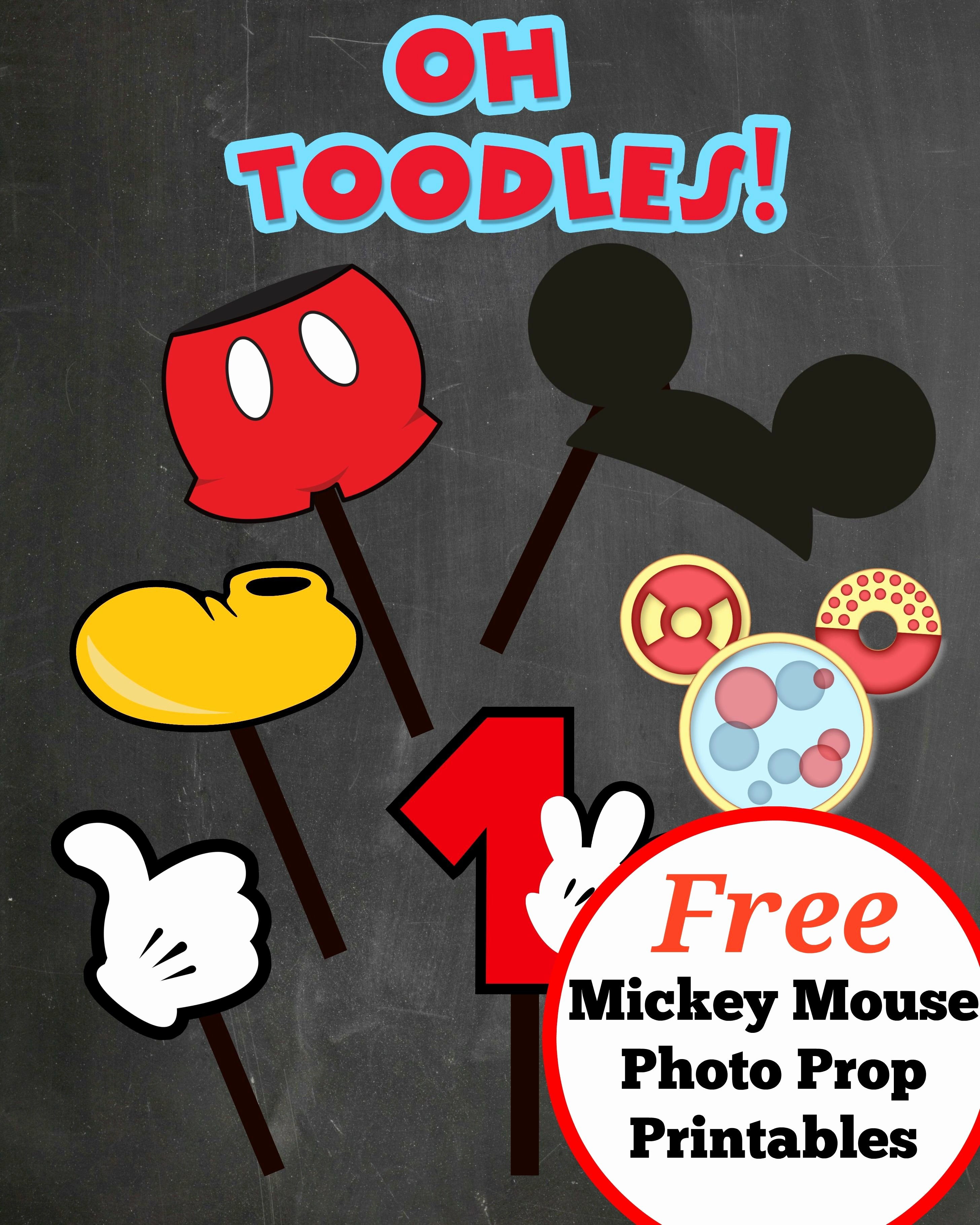 Mickey Mouse Templates Free Lovely Free Photo Props Mickey Mouse Printable & Templates