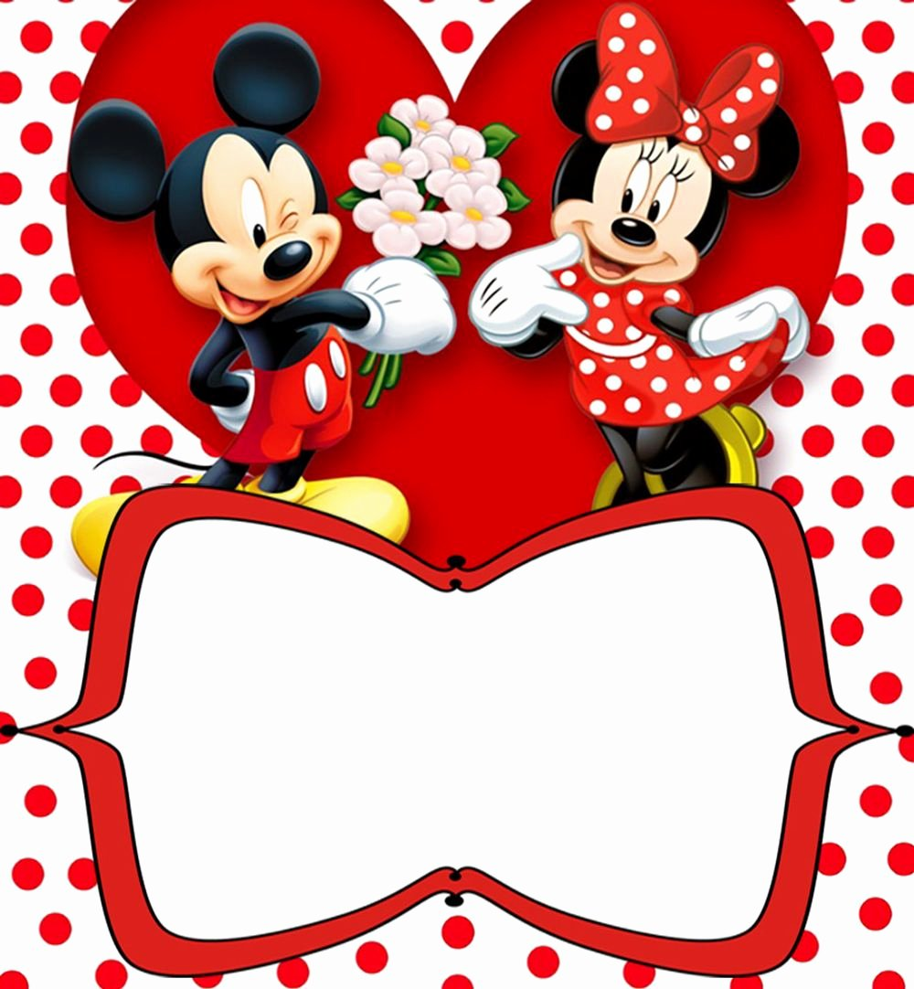 Mickey Mouse Templates Free Unique Mickey Mouse Free Printable Invitation Templates