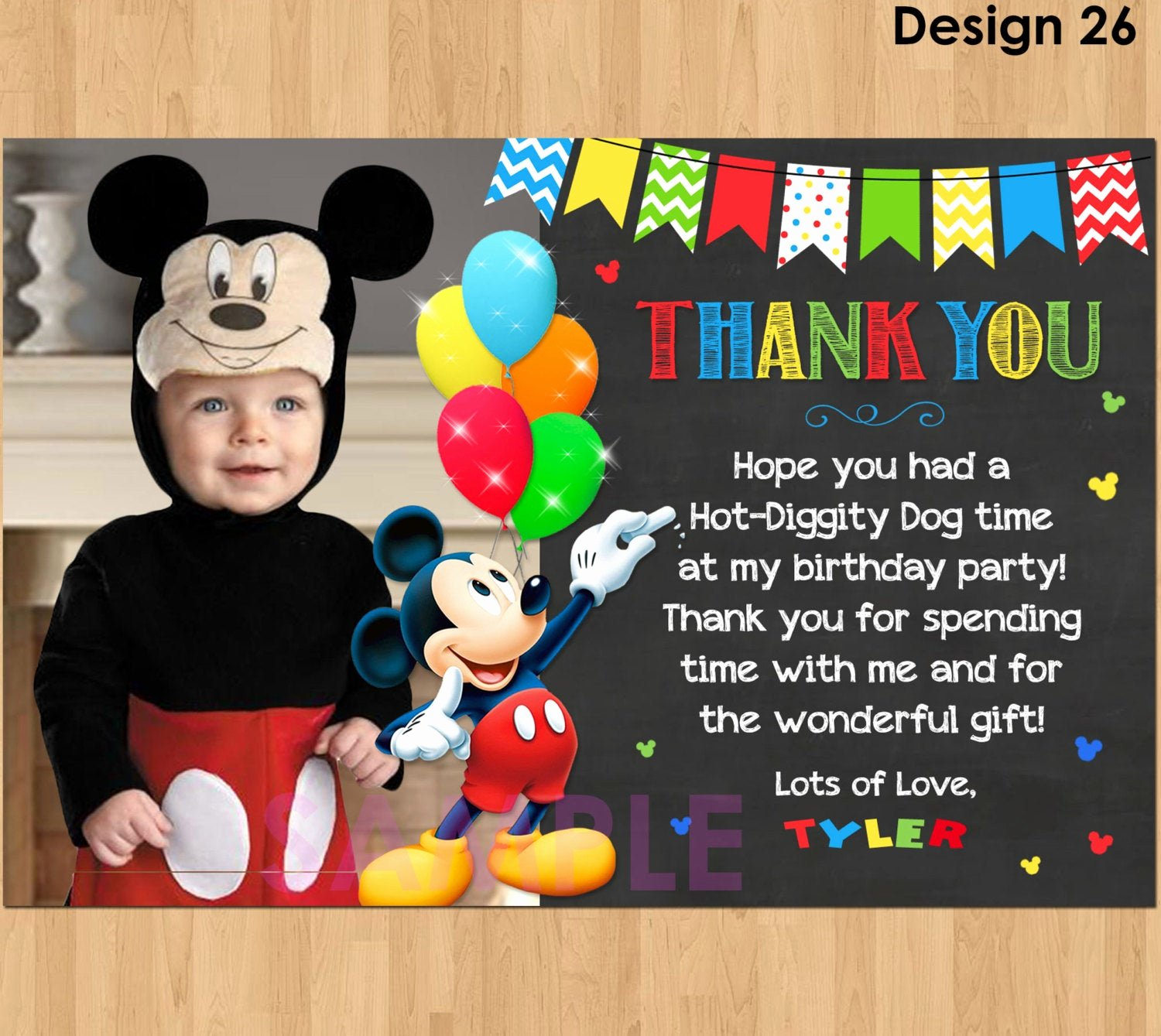 Mickey Mouse Thank You Notes Awesome Mickey Mouse Thank You Card with Mickey Thank You Card