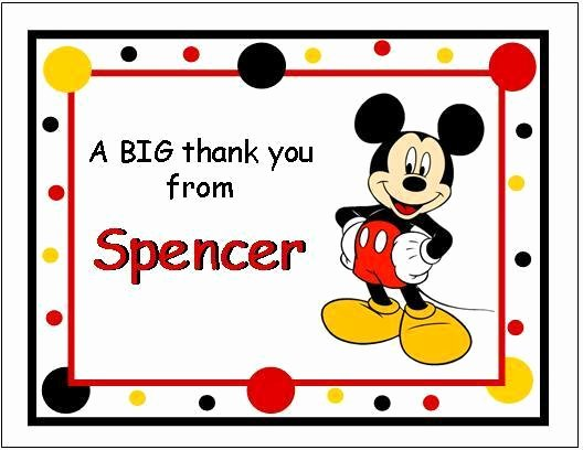 Mickey Mouse Thank You Notes Beautiful Cute Mickey Mouse Note Thank You Cards