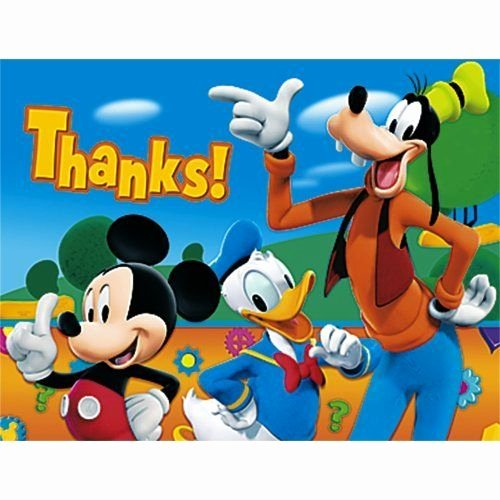 Mickey Mouse Thank You Notes Best Of Amazon Mickey Mouse Thank You Notes 8ct
