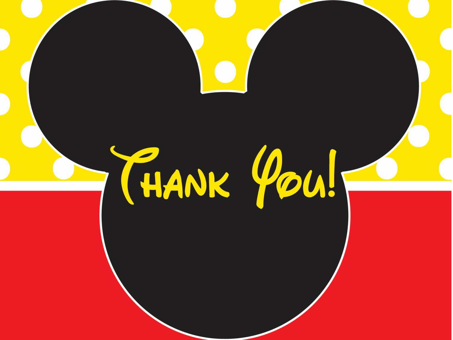 mickey mouse birthday thank you