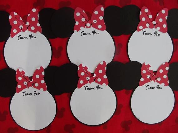 Mickey Mouse Thank You Notes Inspirational Items Similar to Mickey Minnie Mouse Thank You Cards