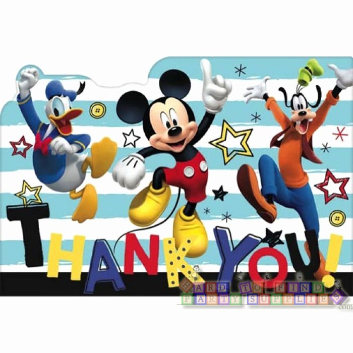 Mickey Mouse Thank You Notes New Mickey Mouse the Go Thank You Note Set W Envelopes 8ct