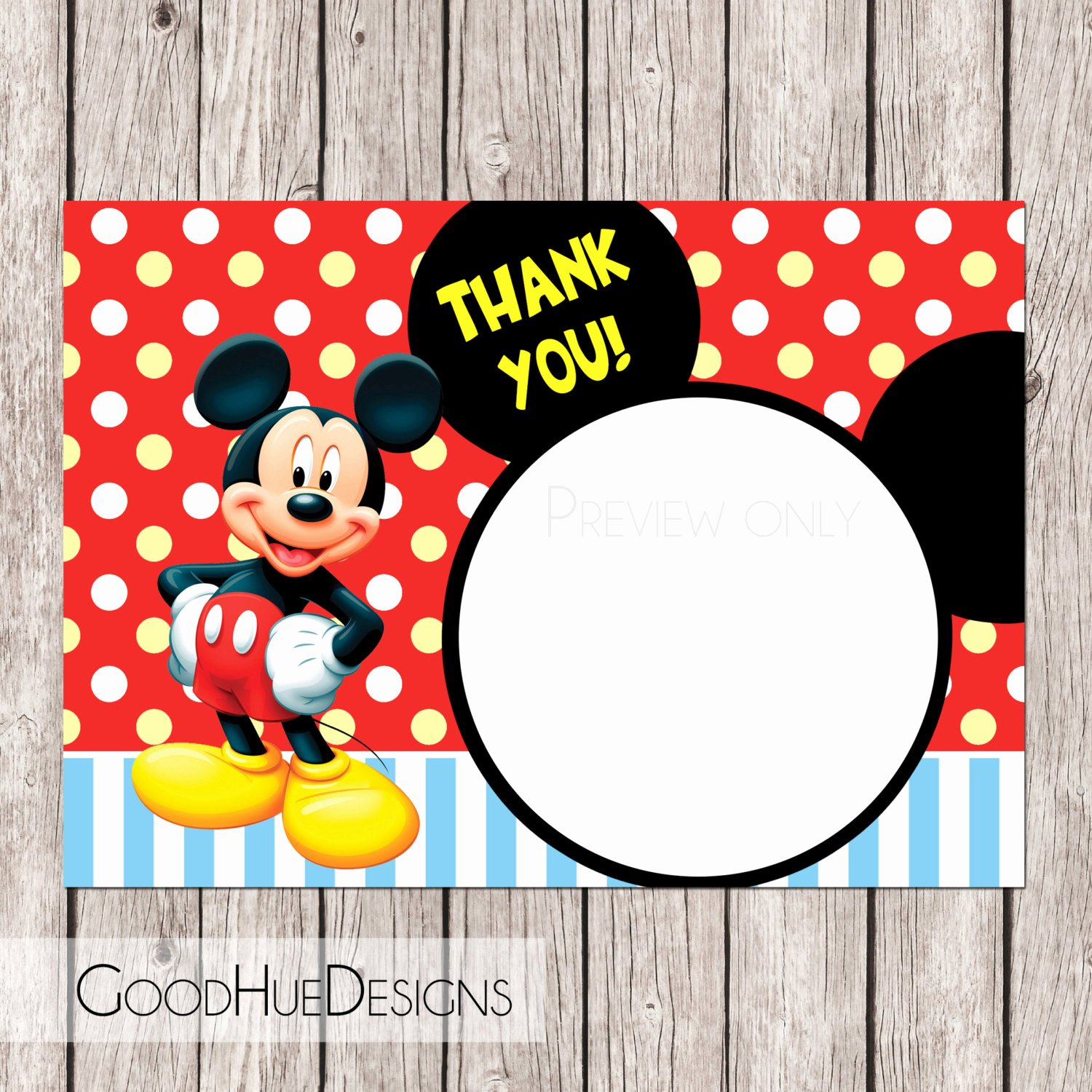 Mickey Mouse Thank You Notes New Mickey Mouse Write In Thank You Note Printable by