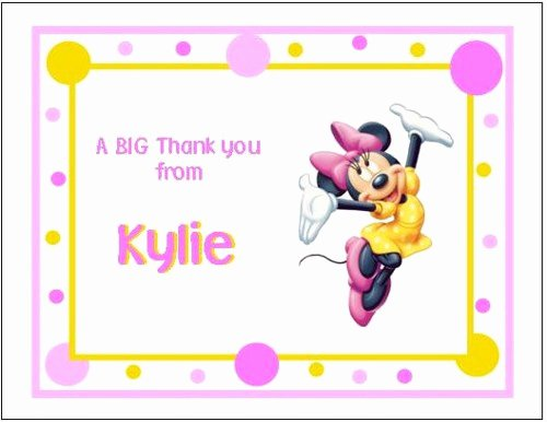 Mickey Mouse Thank You Notes New Minnie Mouse and Mickey Mouse Note or Thank You Cards