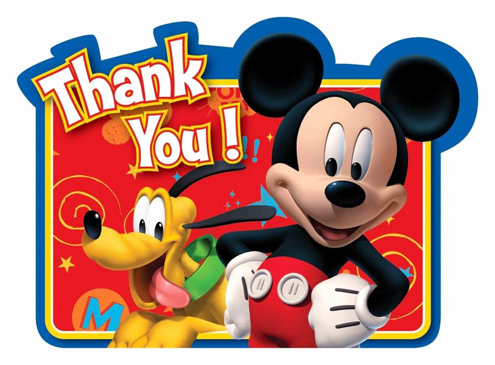 Mickey Mouse Thank You Notes Unique Disney Mickey Fun and Friends Thank You Notes