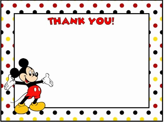 Mickey Mouse Thank You Notes Unique Mickey Mouse Thank You Cards