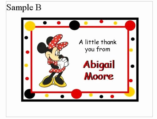 Mickey Mouse Thank You Notes Unique Minnie Mouse and Mickey Mouse Note or Thank You Cards