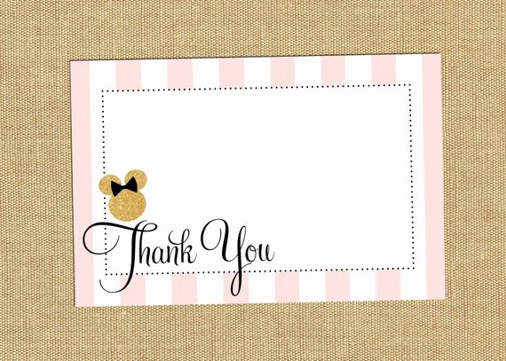 Mickey Mouse Thank You Notes Unique Minnie Mouse Party Thank You Note Cards Minnie by