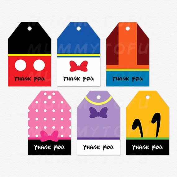 Mickey Mouse Thank You Tags Awesome Mickey Mouse Clubhouse Party Thank You Favor Tags Mickey