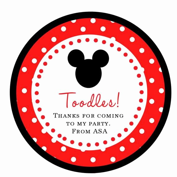 Mickey Mouse Thank You Tags Best Of Mickey Mouse Stickers toodles Cupcake by Jenniferalisondesign