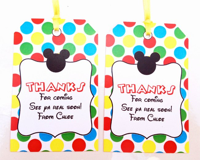 Mickey Mouse Thank You Tags Elegant Mickey Mouse Clubhouse Printable Invitation & Party