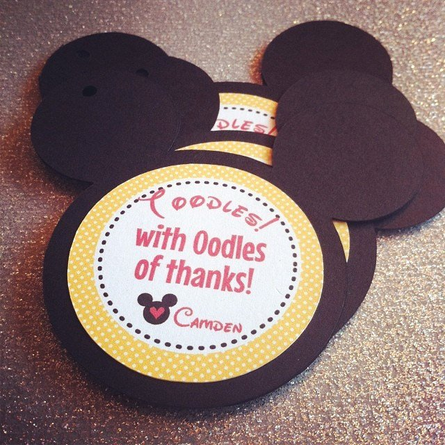 Mickey Mouse Thank You Tags Elegant Mickey Mouse Thank You Tags Favor Tags Gift Tags