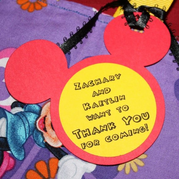 Mickey Mouse Thank You Tags Fresh Items Similar to Mickey Mouse Ears Favor Thank You Tags or