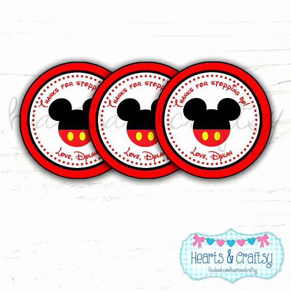 Mickey Mouse Thank You Tags Fresh Mickey Mouse Party Favor Tags Thank You Tags Stickers