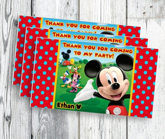Mickey Mouse Thank You Tags Luxury Unavailable Listing On Etsy