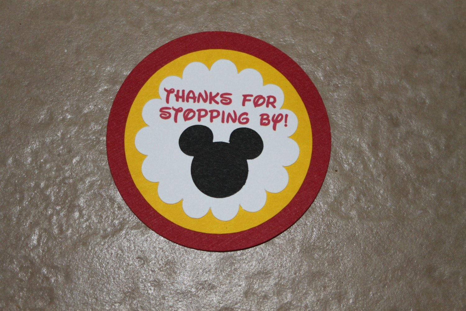 Mickey Mouse Thank You Tags New Thank You Tags Mickey Mouse Birthday Party by