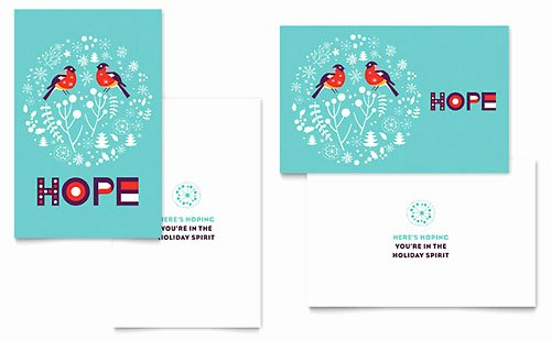 Microsoft Birthday Card Templates Beautiful Ho Ho Ho Greeting Card Template Word & Publisher