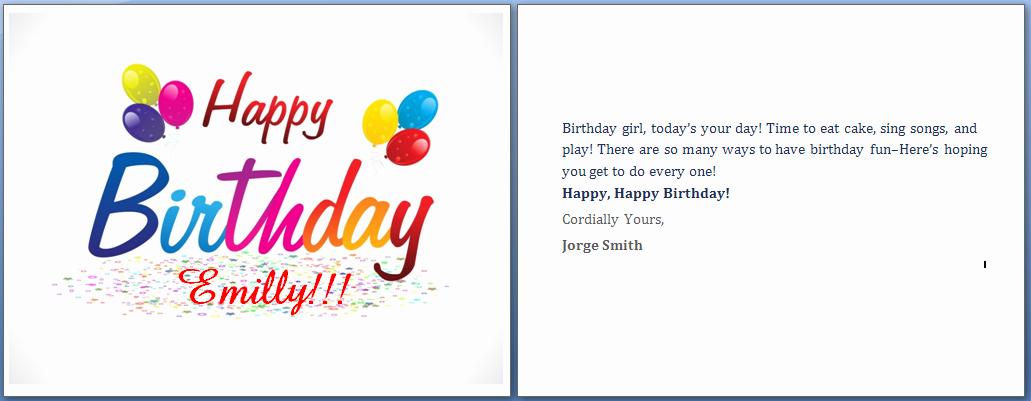 Microsoft Birthday Card Templates Lovely Ms Word Happy Birthday Cards Word Templates