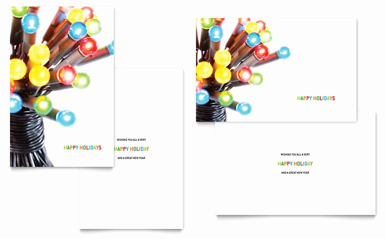 Microsoft Birthday Card Templates Unique Christmas Lights Greeting Card Template Word & Publisher