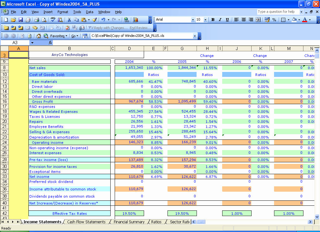 Microsoft Excel Income Statement Template Awesome Best S Of Financial In E Statement Template