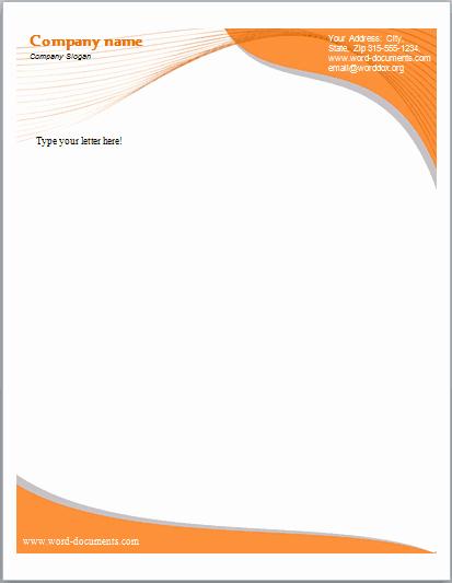 Microsoft Letterhead Templates Free Awesome 14 Free Letterhead Templates In Word Pdf formats