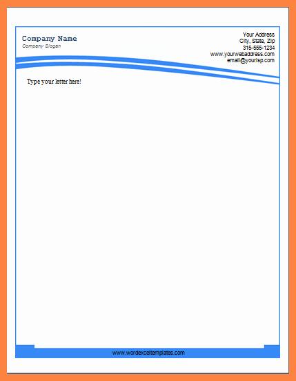 Microsoft Letterhead Templates Free Beautiful 6 Microsoft Word Letterhead Templates