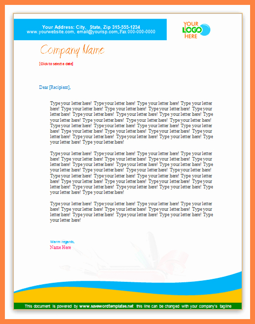 8 microsoft business letterhead templates
