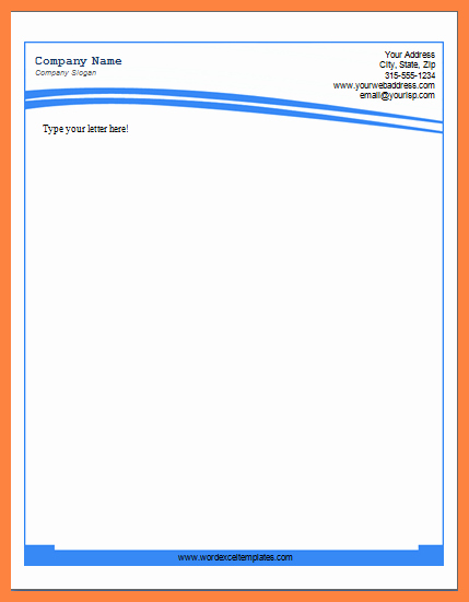 Microsoft Letterhead Templates Free Inspirational 6 Letterhead Templates for Word