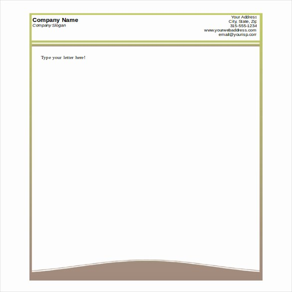 Microsoft Letterhead Templates Free Inspirational Pany Letterhead format In Word format