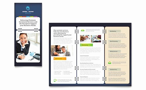Microsoft Office Brochure Template Beautiful Administrative Services Brochure Templates Word