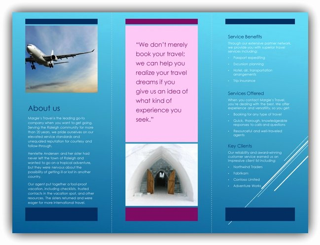 Microsoft Office Brochure Template Inspirational Tri Fold Brochure Template Word