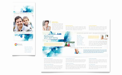 Microsoft Office Brochure Template Luxury Medical & Health Care Tri Fold Brochure Templates Word