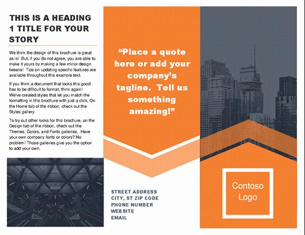 Microsoft Office Brochure Template Unique Brochures Fice