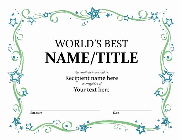 Microsoft Office Certificate Template Elegant Certificates Fice