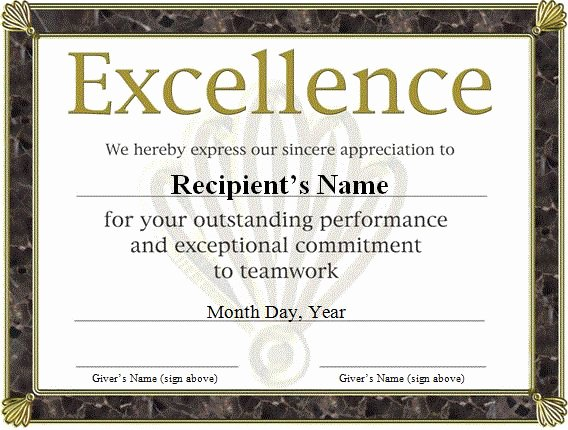 Microsoft Office Certificate Template Lovely Free Funny Award Certificates Templates