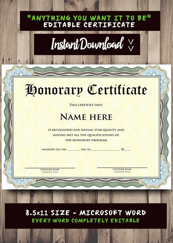 Microsoft Office Certificate Template Lovely Printable Certificate Template Microsoft Word Editable