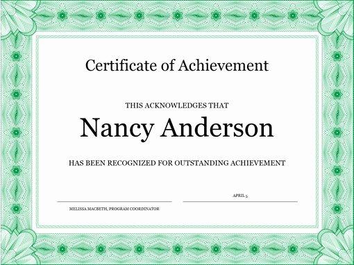 Microsoft Office Certificate Template Luxury Certificates Fice